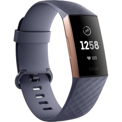 Фитнес-браслет Fitbit Charge 3 Fitness Wristband (Blue Gray/Rose Gold Aluminum)
