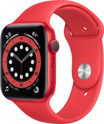 Apple Watch Series 6 (GPS only 44mm (PRODUCT)RED Aluminum Case with (PRODUCT)RED Sport Band) M00M3